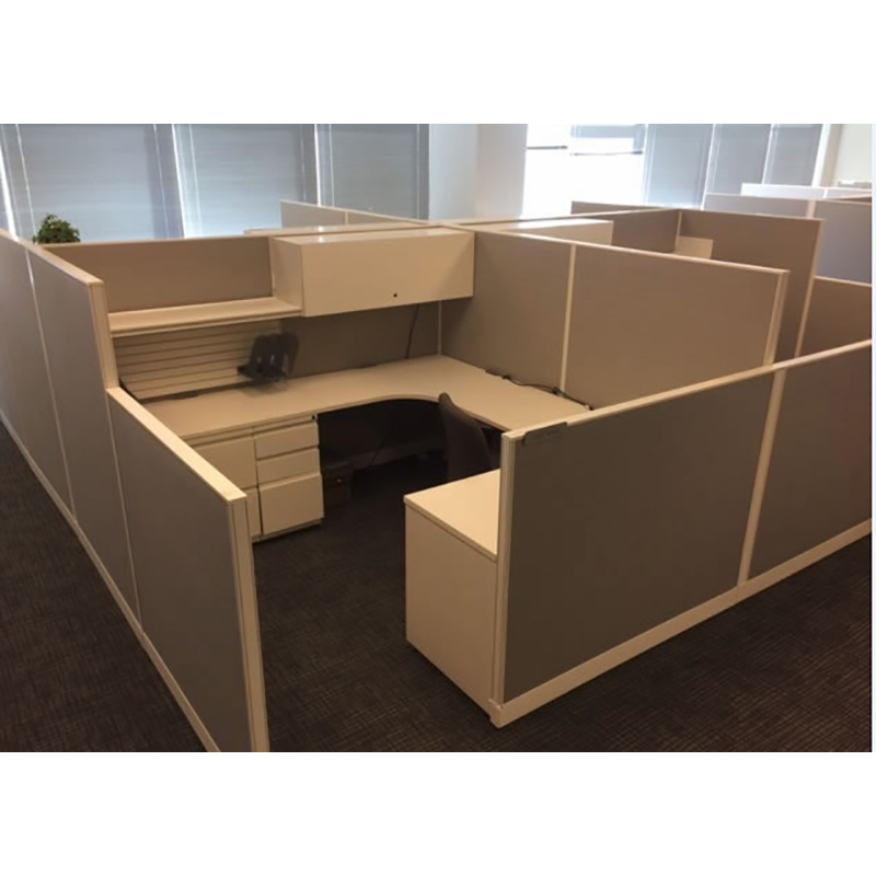 Haworth Unigroup Beige 8x8 Cubicles 64 Tall