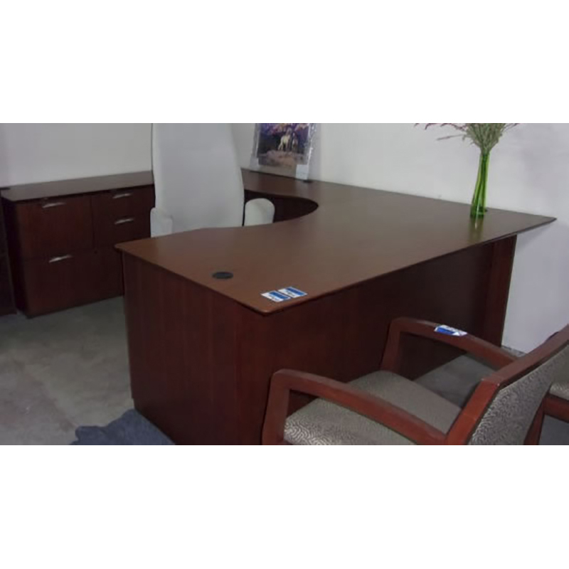 Swell National Cherry U Shape Desk Download Free Architecture Designs Scobabritishbridgeorg