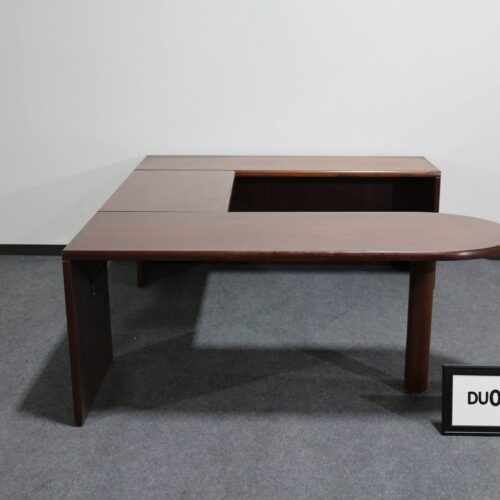 Picture of used U-shaped desk with cherry finish for sale at Monarch Office Furniture