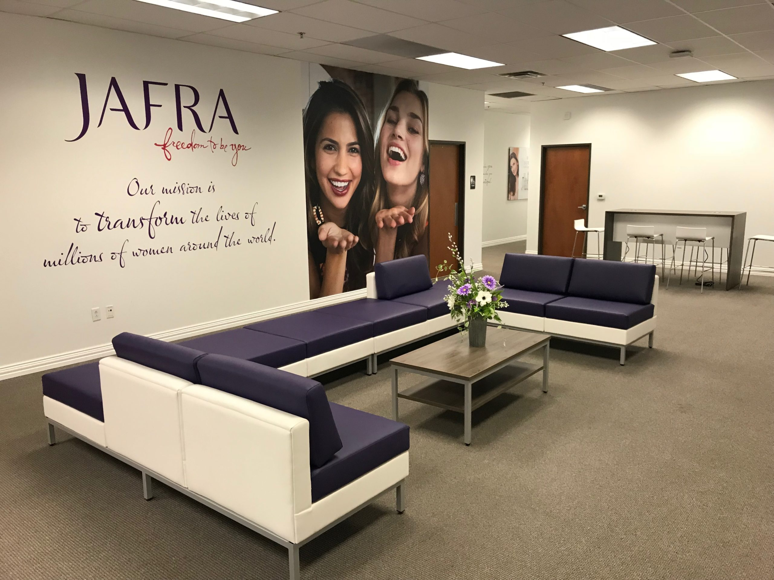 Jafra Headquarters furniture installation by Monarch Office Furniture