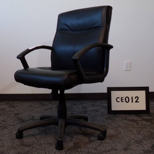 Monarch Office Furniture CE012 National black leather executive chair for sale