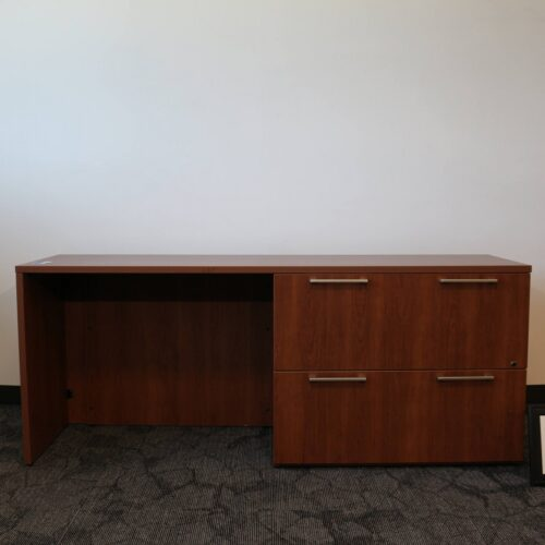 Monarch Office Furniture CR012D Used Haworth Credenza with 2-Drawer File Pedestal for sale