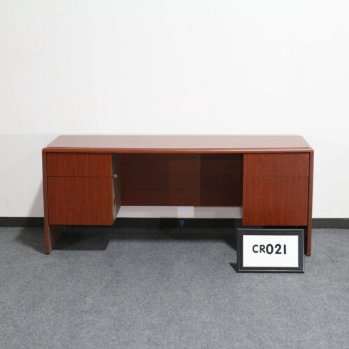 Picture of used National Arrowood storage credenza with double pedestals for sale at Monarch Office Furniture