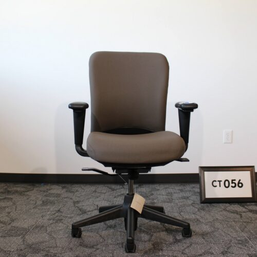 Used Haworth Look gray fabric office task chair for sale at Monarch Office Furniture