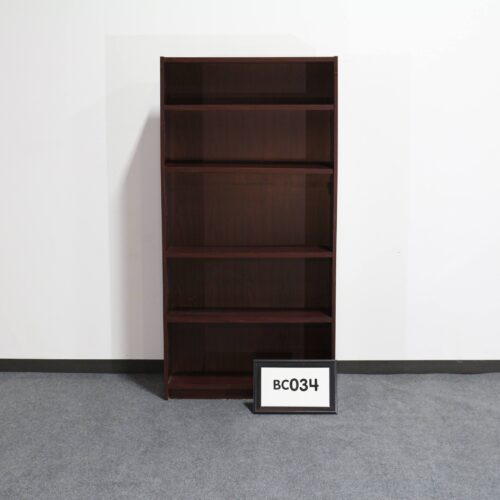 Picture of used mahogany laminate bookshelf for sale at Monarch Office Furniture