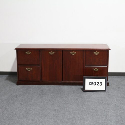 Picture of used Kimball cherry wood storage credenza for sale at Monarch Office Furniture