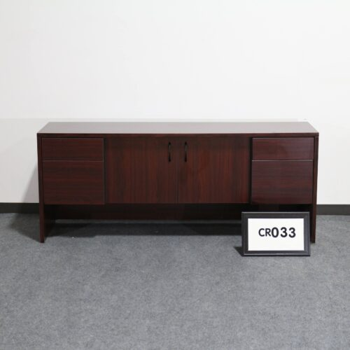 Picture of mahogany wood storage credenza for sale at Monarch Office Furniture