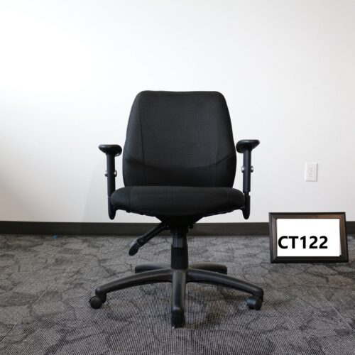 Picture of used black task chair for sale at Monarch Office Furniture