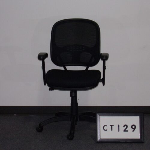 Picture of black mesh back task chair for sale at Monarch Office Furniture