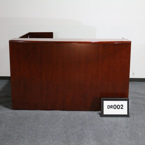 Picture of cherry wood reception desk with right return, 2 storage peds, for sale at Monarch Office Furniture