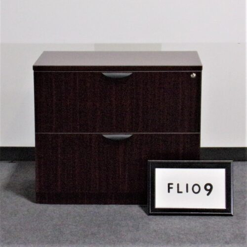 Picture of used mahogany 2-drawer lateral file for sale at Monarch Office Furniture