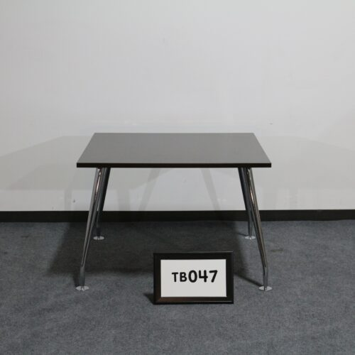 """Picture of used 42"""" square espresso lamiante breakroom table with chrome legs for sale at Monarch Office Furniture"""