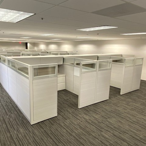 Picture of used Allsteel Terrace cubicles for sale at Monarch Office Furniture