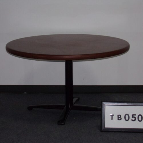 """Picture of used 48"""" round mahogany breakroom table for sale at Monarch Office Furniture"""
