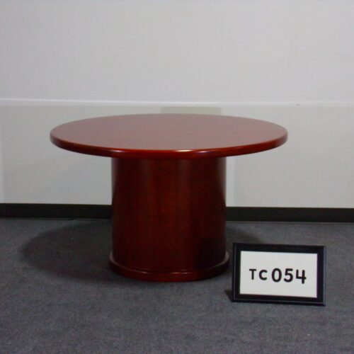 """Picture of used cherry laminate 48"""" round conference table with drum base for sale at Monarch Office Furniture"""
